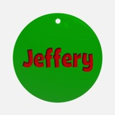 Jeffery Green and Red Ornament (Round)