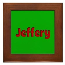 Jeffery Green and Red Framed Tile