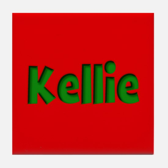 Kellie Red and Green Tile Coaster