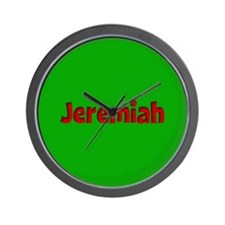 Jeremiah Green and Red Wall Clock