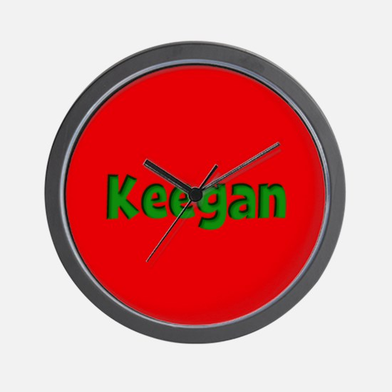 Keegan Red and Green Wall Clock