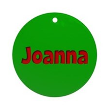 Joanna Green and Red Ornament (Round)