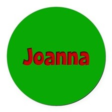 Joanna Green and Red Round Car Magnet