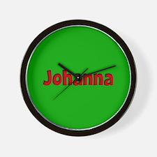 Johanna Green and Red Wall Clock