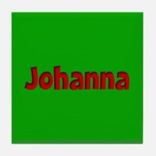 Johanna Green and Red Tile Coaster