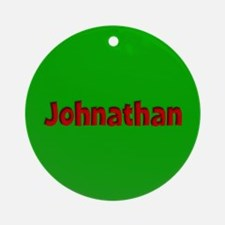 Johnathan Green and Red Ornament (Round)