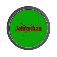 Johnathan Green and Red Wall Clock