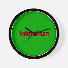 Johnathan Green and Red Wall Clock