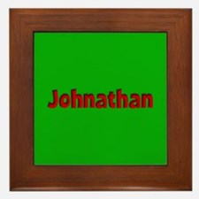 Johnathan Green and Red Framed Tile