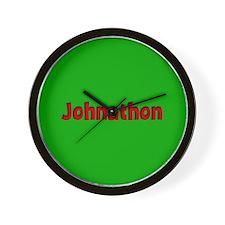 Johnathon Green and Red Wall Clock