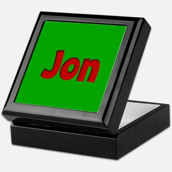 Jon Green and Red Keepsake Box