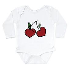 Wild Cherry Long Sleeve Infant Bodysuit