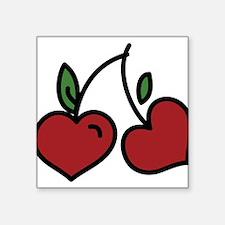 "Wild Cherry Square Sticker 3"" x 3"""