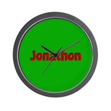 Jonathon Green and Red Wall Clock