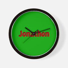 Jonathon Green and Red Wall Clock