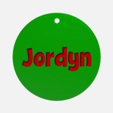 Jordyn Green and Red Ornament (Round)