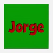 Jorge Green and Red Tile Coaster