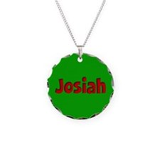 Josiah Green and Red Necklace