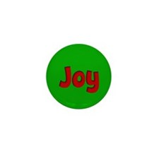 Joy Green and Red Mini Button (10 pack)