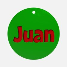 Juan Green and Red Ornament (Round)