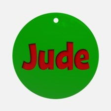 Jude Green and Red Ornament (Round)