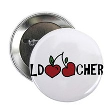 "Wild Cherry 2.25"" Button"