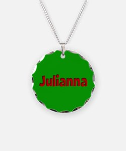 Julianna Green and Red Necklace