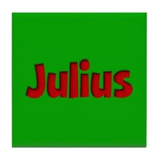 Julius Green and Red Tile Coaster