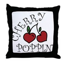 Cherry Poppin Throw Pillow