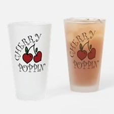 Cherry Poppin Drinking Glass