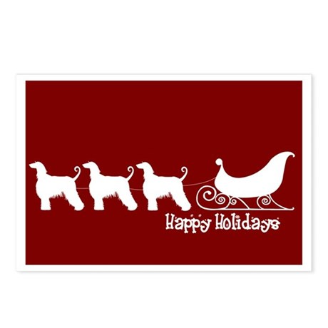 "Afghan Hound ""Sleigh"" Postcards (Package of 8)"