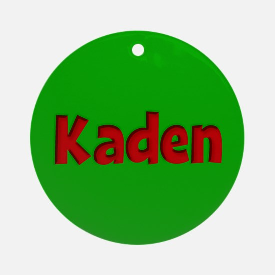 Kaden Green and Red Ornament (Round)