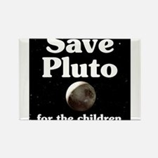 Save Pluto for the Children Rectangle Magnet