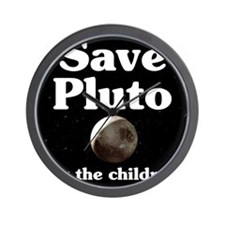Save Pluto for the Children Wall Clock