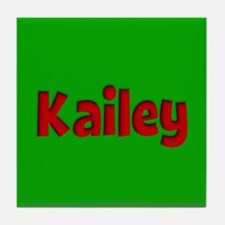 Kailey Green and Red Tile Coaster