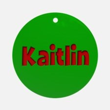 Kaitlin Green and Red Ornament (Round)