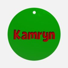 Kamryn Green and Red Ornament (Round)