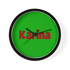 Karina Green and Red Wall Clock