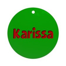 Karissa Green and Red Ornament (Round)