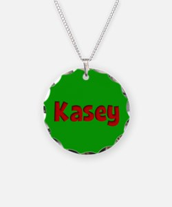 Kasey Green and Red Necklace