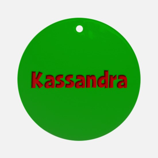 Kassandra Green and Red Ornament (Round)