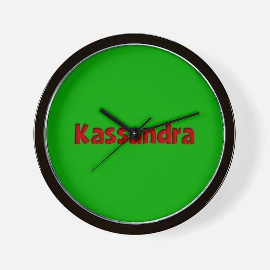 Kassandra Green and Red Wall Clock