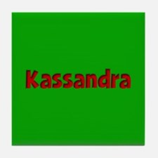 Kassandra Green and Red Tile Coaster