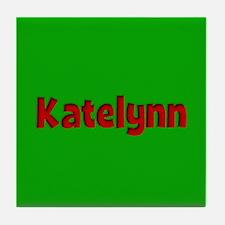 Katelynn Green and Red Tile Coaster