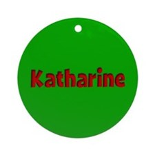 Katharine Green and Red Ornament (Round)