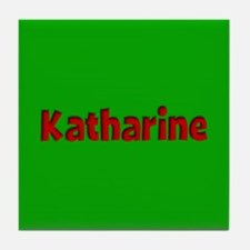 Katharine Green and Red Tile Coaster