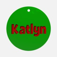 Katlyn Green and Red Ornament (Round)