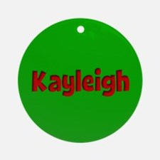 Kayleigh Green and Red Ornament (Round)