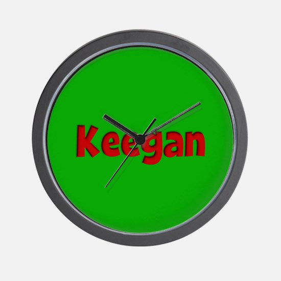 Keegan Green and Red Wall Clock