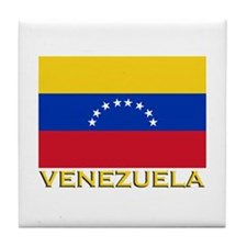 Venezuela Flag Merchandise Tile Coaster